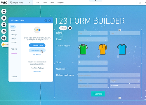 123 form builder 概要 wix app market wix com