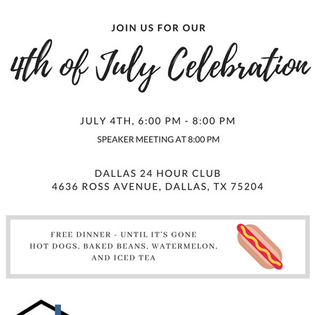 Join us! 4th of July Celebration