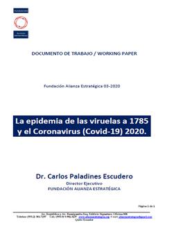 Documento de Trabajo, Carlos Paladines Escudero Marzo 2020