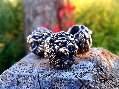 Small Lion Head Paracord Bead
