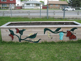 Part of the outdoor classroom at Lord Nelson School, Wpg