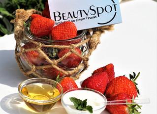 BeautySpot4You - Erdbeermaske selbst gemacht !