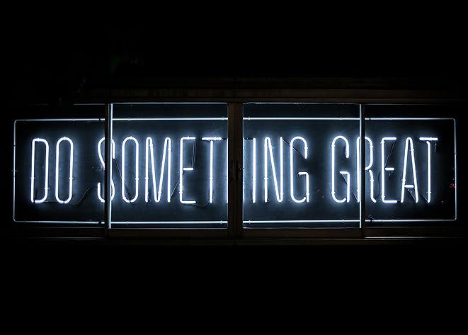 Do something great - motivation poster .