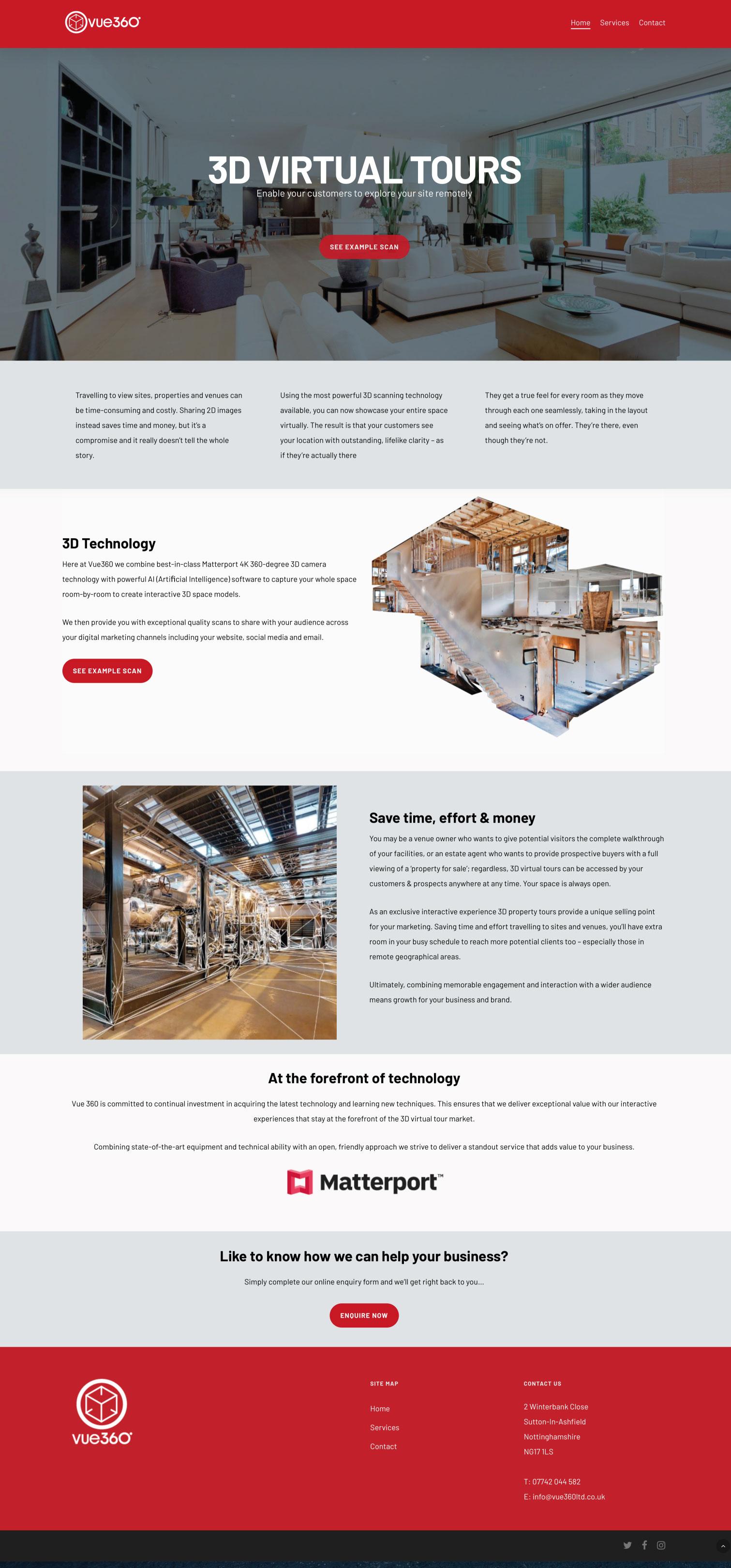 Vue360 Website Home
