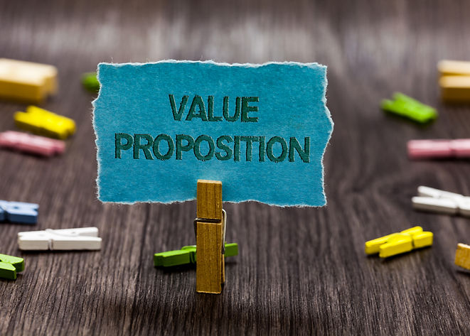 Text sign showing Value Proposition. Con