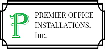 Premier Office Installations Inc Logo. Premier Modular Office Furniture Installation Company.