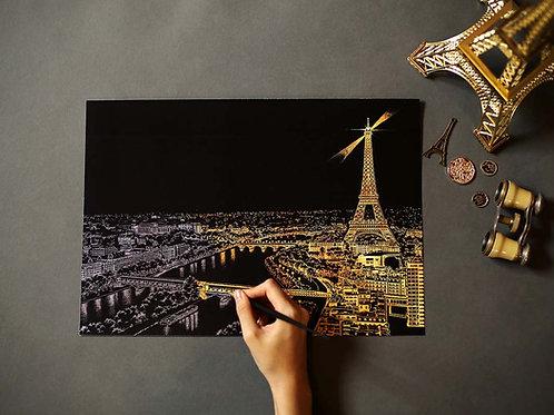 Scratch Night View - Paris (Landscape)