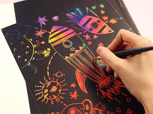 Scratch Coloring Kids - Blank Paper