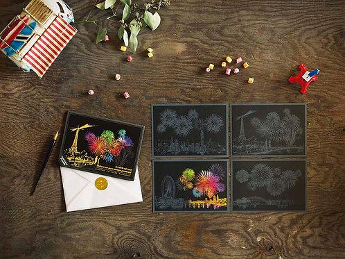 Scratch Postcard - Fireworks