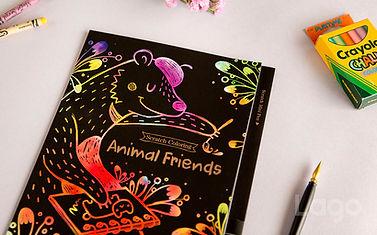 Lago Scratch Kids Animal Friends coloring book
