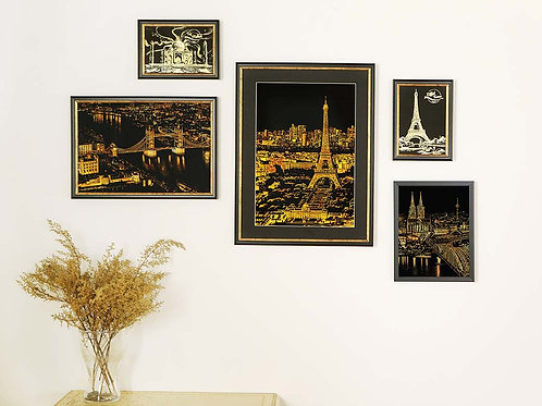 Frame Size - Postcard, Booklet, Night View Series, Night View