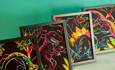 Lago Scratch Kids - Dinosaur Coloring book