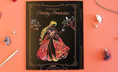 Lago Scratch Pretty Princess Coloring Book Kids