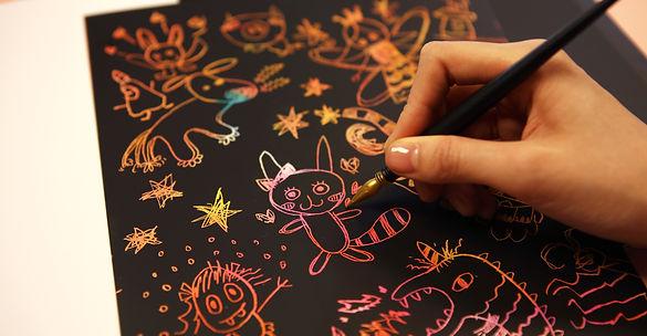 Lago Scratch creative blank coloring book