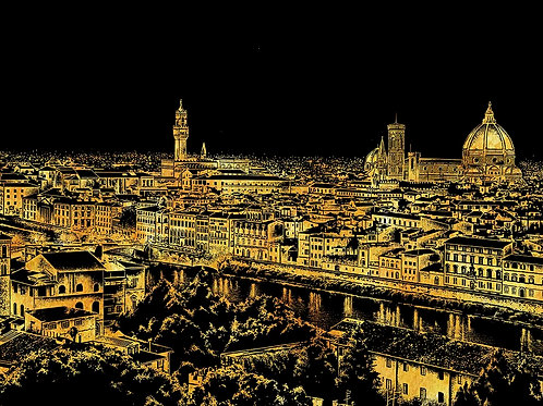 Scratch Night View - Florence