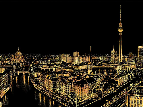 Scratch Night View - Berlin