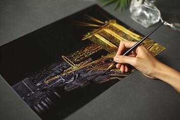 Night View Cityscape | Lago Design Scratch Art Hong Kong