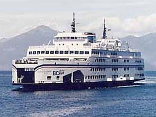 B.C. ferry snags fishing net, and small boat, near Nanaimo