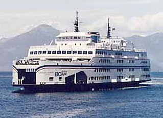 B.C. ferry snags fishing net, and small boat, near Nanaimo