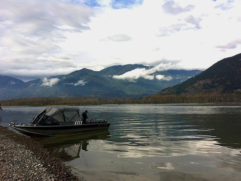 Fishery protest at Island 22 in Chilliwack on BC Day