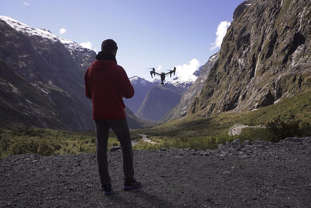 DJI drone flight in New Zealand