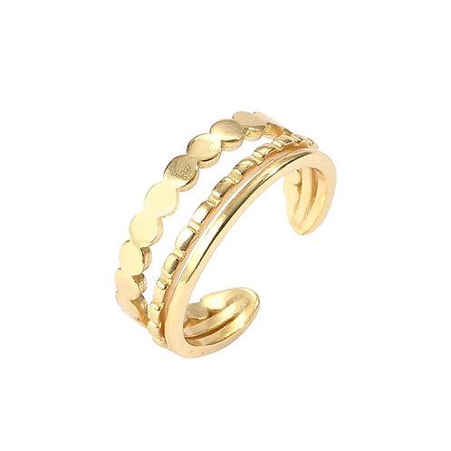 The Brizzle cuff ring