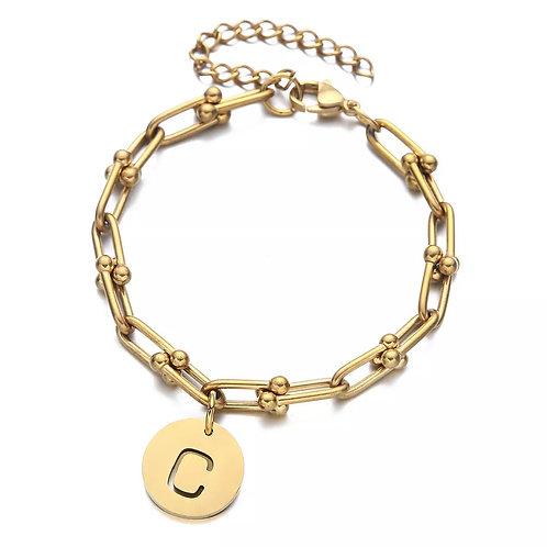 The Golden Initial bracelet