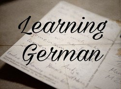 Learning German - an unexpected start