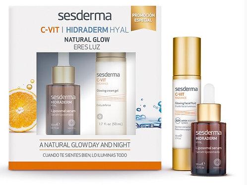 Sesderma C-Vit Radiance Glowing Fluid + Hydraderm Hyal