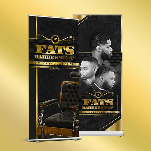 2 Retractable Banners (Design + Print)