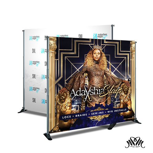 "8"" x 8"" Step and Repeat Banner (Design + Print)"
