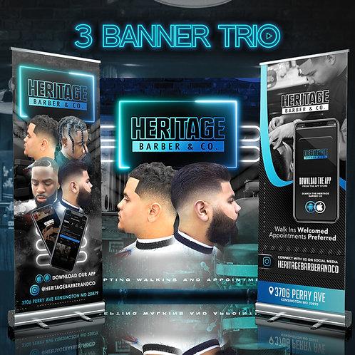 3 Banner Trio