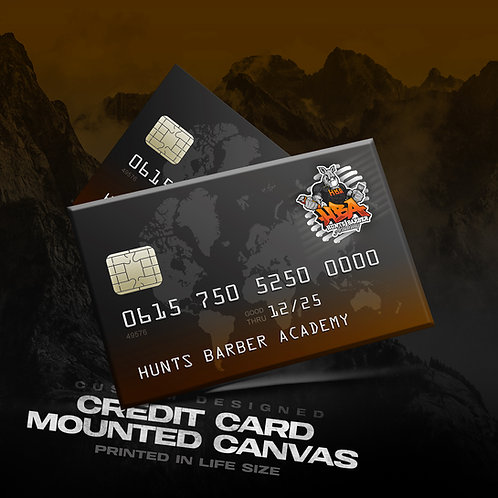 Credit Card Mounted Canvas