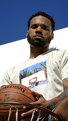 Double Rim and Palm Trees Basketball Shirt