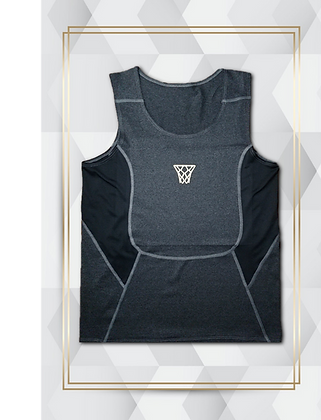 Gold Net Compression Tank Mens Basketball