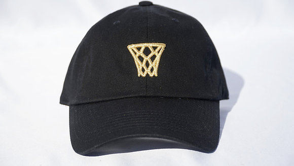 Black Gold Net Dad Hat