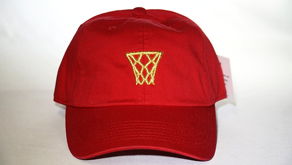 Red Gold Net Dad Hat
