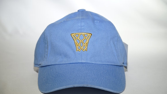 Baby Blue Gold Net Dad Hat