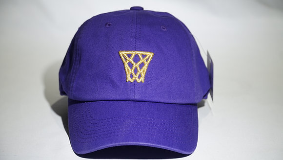 Purple Gold Net Dad Hat