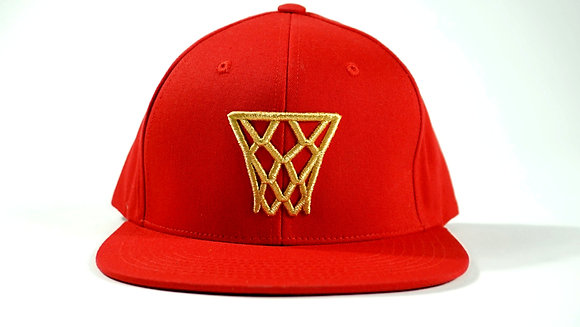 Red Gold Net Snapback