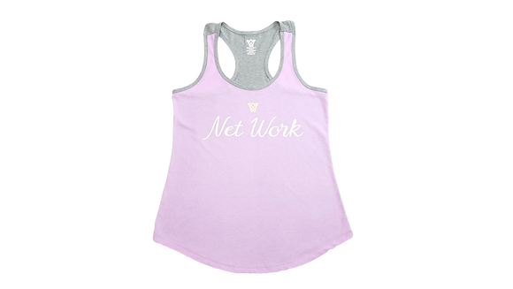 Net Work Women's Racerback Scoop Bottom Tank