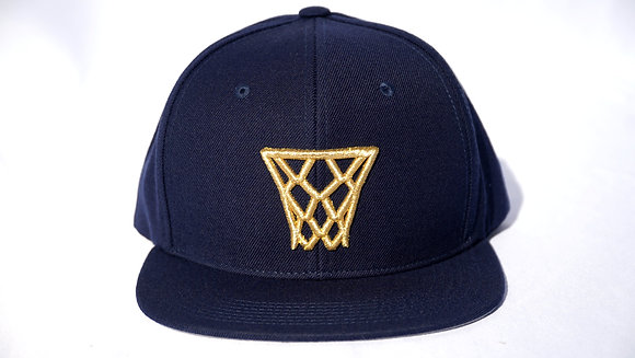 Navy Gold Net Snapback
