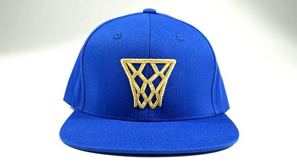Royal Blue Gold Net Snapback