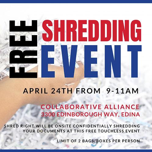 April 24th, 2021 - FREE Shredding Event