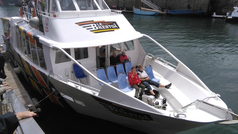 Départ pour la visite de la rade de Brest