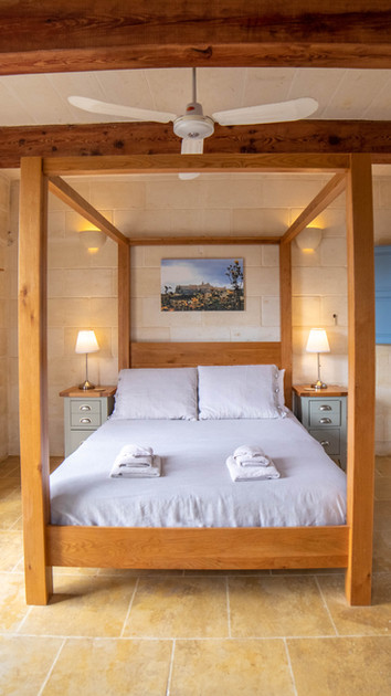 One of our lovely bedrooms (Erbgha in Maltese).