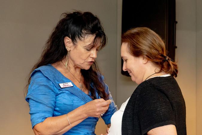 Deborah presents Sonia with her DSA badgeOA.jpeg