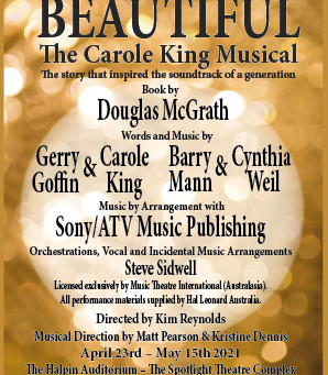 APPLICATIONS ARE INVITED FOR AUDITIONS FOR BEAUTIFUL THE CAROLE KING MUSICAL