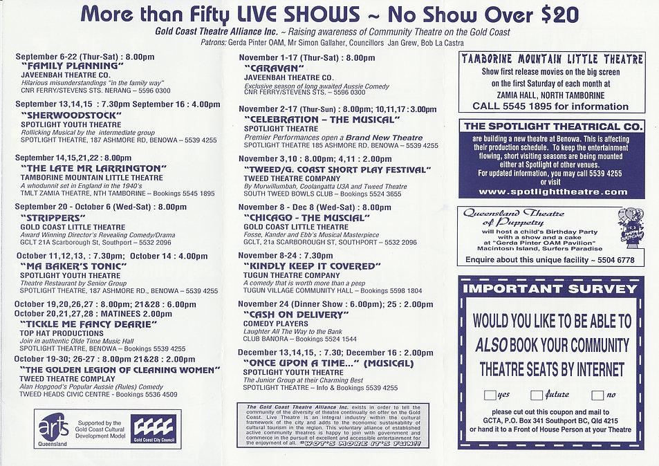 Directory inside September December 2001
