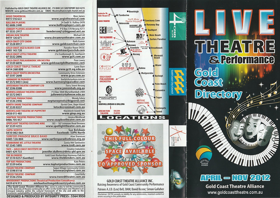 Directory Cover April to November 2012 I